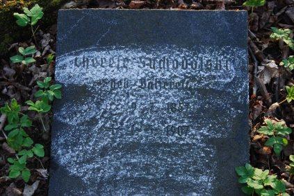 Pochwałki/Sandenfelde (d. Kreis Darkehmen/Angerapp) 2014. Ch. Suchodolski geb. Balzereit 09.07.1857-01.05.1907.